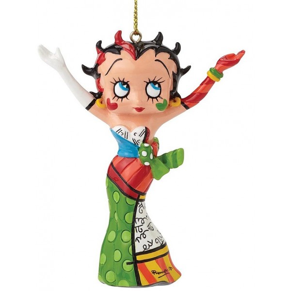 STATUINA DA APPENDERE BETTY BOOP BRITTO HANDS IN THE AIR