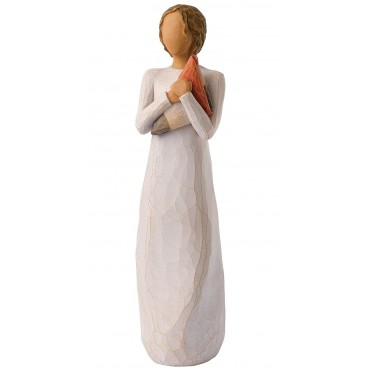 STATUINA WILLOW TREE SUSAN LORDI CON BANDIERA