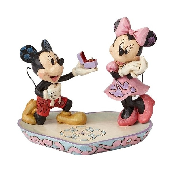 TOPOLINO MINNIE E L'ANELLO DI FIDANZAMENTO DISNEY TRADITIONS