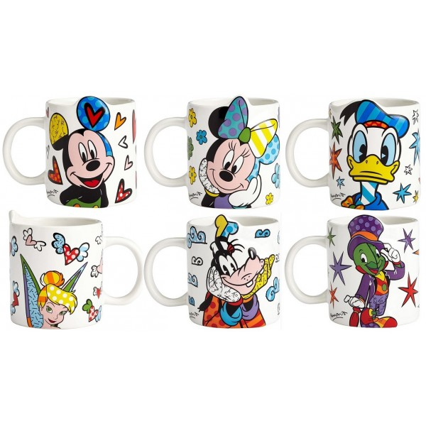 LOTTO 6 MUGS DISNEY BRITTO