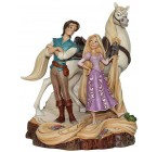 RAPUNZEL FLYNN E MAXIMUS WOODCARVED DISNEY TRADITIONS
