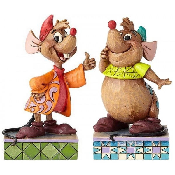 COPPIA STATUETTE JAQ E GUS DISNEY TRADITIONS