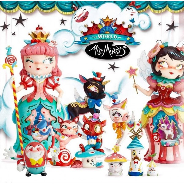 LOTTO COMPLETO STATUINE CANDY CIRCUS COLLECTION MISS MINDY