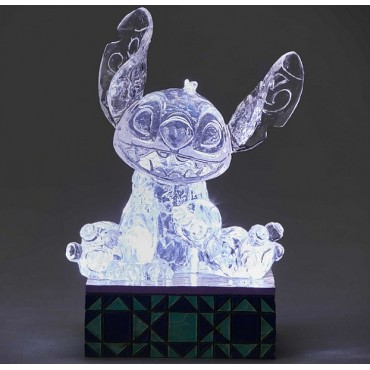 STITCH GHIACCIO SCOLPITO LUMINOSO DISNEY TRADITIONS