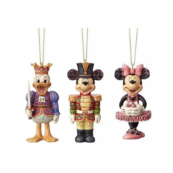 Addobbi Natalizi Walt Disney.Set 3 Addobbi Disney Traditions Serie Schiaccianoci