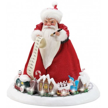 SANDY CLAWS CON TRENINO LUMINOSO DISNEY DEPT.56
