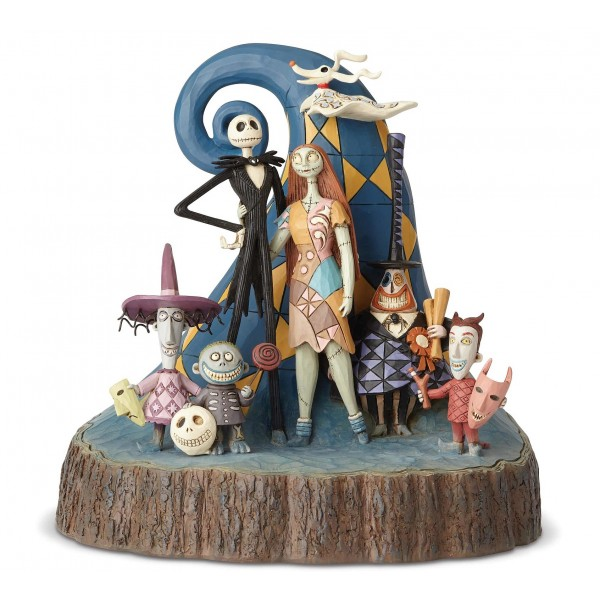 NIGHTMARE BEFORE CHRISTMAS WOODCARVED DISNEY TRADITIONS