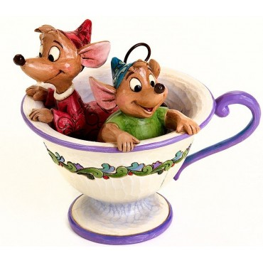 JAQ E GUS NELLA TAZZA JIM SHORE - DISNEY TRADITIONS