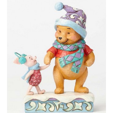 WINNIE ET PIMPI IN INVERNO JIM SHORE DISNEY TRADITIONS
