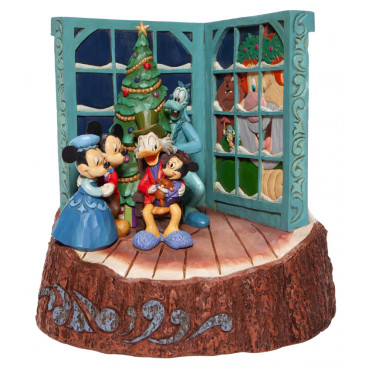 IL CANTO DI NATALE DI TOPOLINO WOODCARVED- DISNEY TRADITIONS
