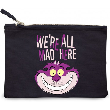 "PORTA TRUCCHI "" WE'RE ALL MAD HERE "" - DISNEY"